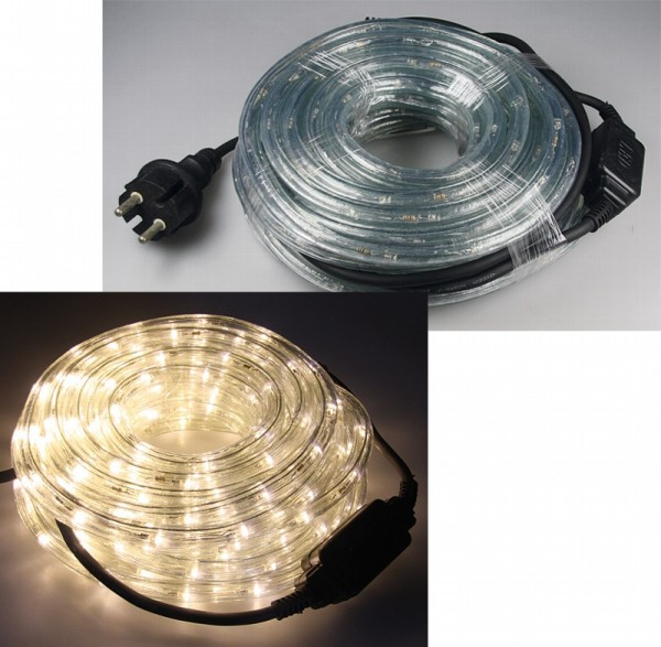 10m LED Lichtschlauch 240 LED 15W 230V warmweiß IP44