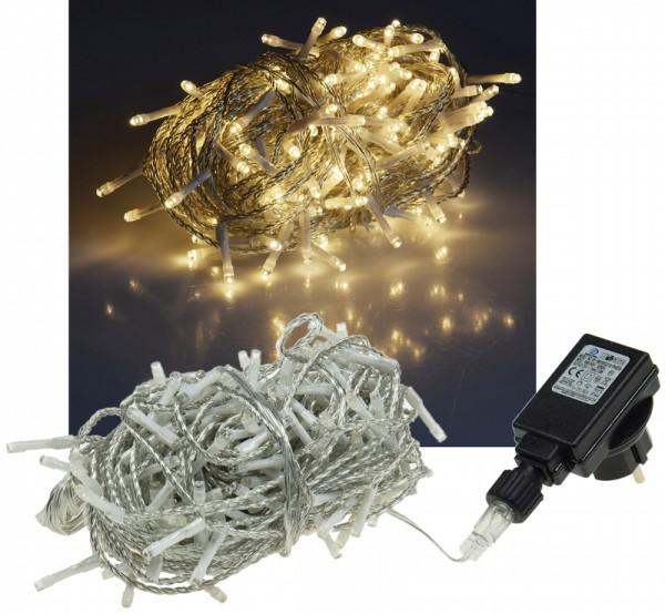 ChiliTec LED Lichterkette 20m warmweiß 200 LED IP44