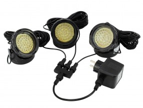 eurolite LED Springbrunnenleuchten GELB 3er Set IP68