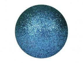 EUROPALMS Dekokugel 3,5cm, blau, glitzer 48x