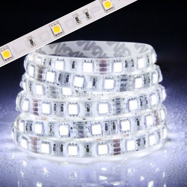 Flex LED Strip 5050 KALTWEIß 1m - 5m 12V 60 LED/m IP65