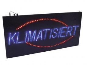 LED Schild Klimatisiert rot blau