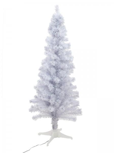 europalms tannenbaum fiber led 180cm wei weihnachten deko partyeffekte. Black Bedroom Furniture Sets. Home Design Ideas