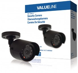 Valueline Kugel Videoüberwachungskamera 420 TVL schwarz 11 LED IP44