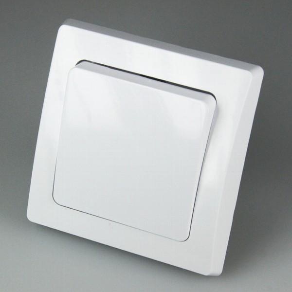 DELPHI Unterputz Taster 250V~/ 10A mit Rahmen weiß