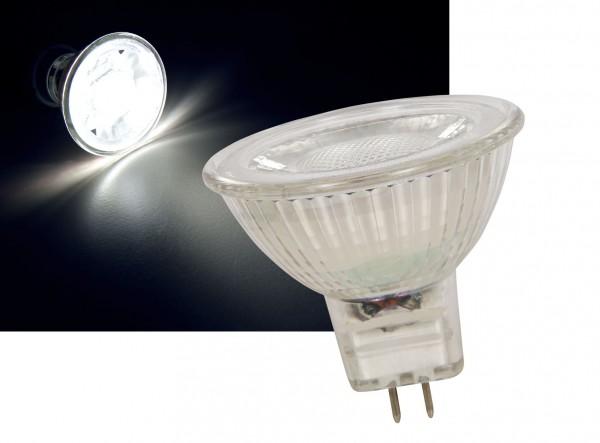 Glas GU5,3 LED 3W COB Leuchtmittel neutralweiß