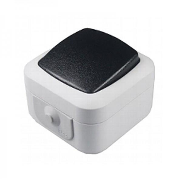 ChiliTec Aufputz-Wechsel-Schalter IP44 Feuchtraum