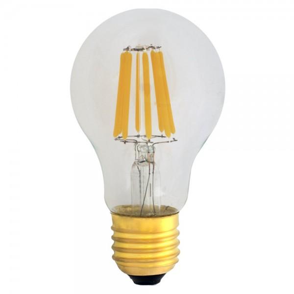 eiko dimmbare a19 led e27 filament 6w warmwei 2700k 620lm 230v led ambiente. Black Bedroom Furniture Sets. Home Design Ideas