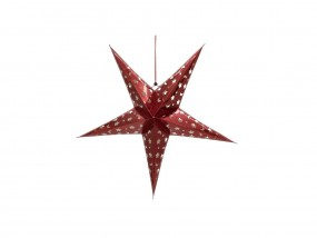 EUROPALMS Stern Laterne, Papier, rot, 50 cm