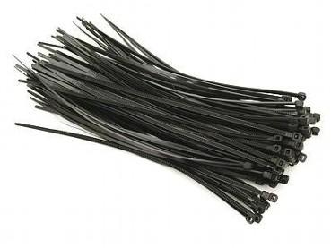 100x Kabelbinder 150mm x 3,5mm schwarz