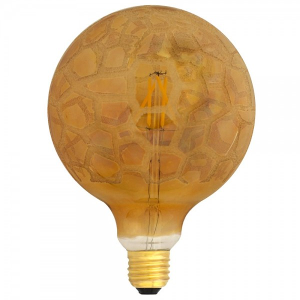 EiKO G125 LED E27 Filament 230V 4W warmweiß 2700K Krokoeis Flower Cover 420lm