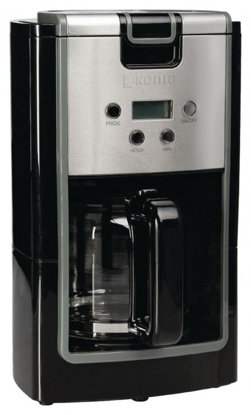 k nig kaffeemaschine mit timer 900w schwarz silber. Black Bedroom Furniture Sets. Home Design Ideas
