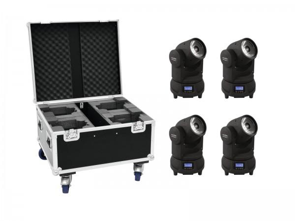 EUROLITE Set 4x LED TMH-X1 Moving-Head Beam + Case