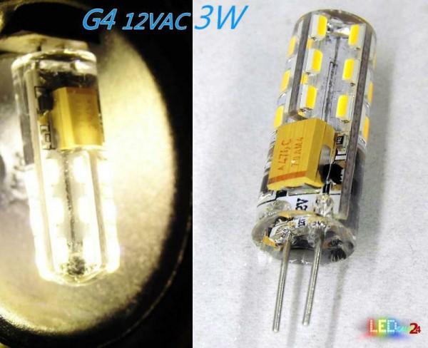 LED G4 2W 12V AC/DC Leuchtmittel warmweiß (Spot, Strahler, Halogen)