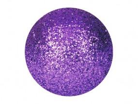 EUROPALMS Dekokugel 3,5cm, violett, glitzer 48x