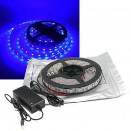 5m LED Strip Set SMD 5050 Blau IP20 für Innen mit Netzteil 12V 60 LED/m
