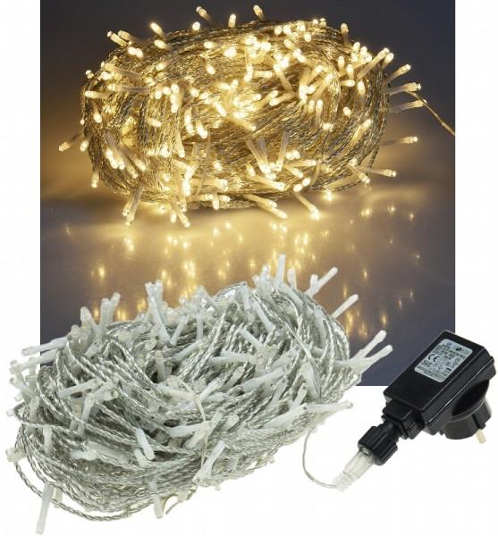 ChiliTec LED Lichterkette 40m warmweiß 400 LED IP44