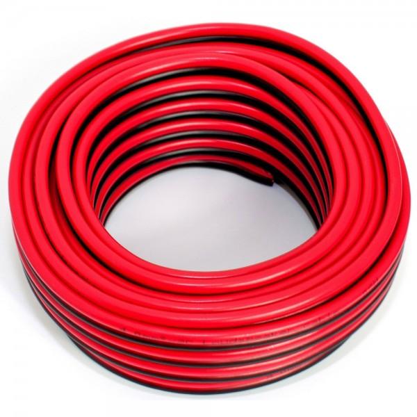 10m Lautsprecherkabel 2x 4,00mm rot schwarz