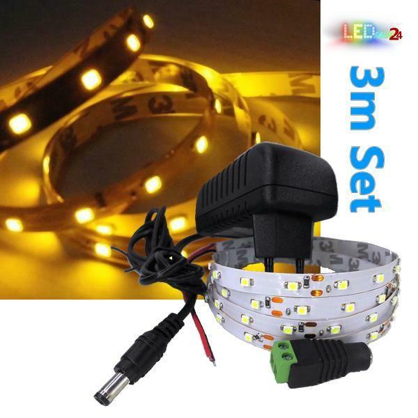 LED Streifen Komplettset 3m - 60 SMDs - 3528 - einfarbig GELB