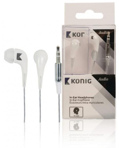 König Kopfhörer 3,5mm Weiß