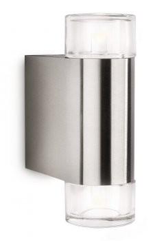 Dimmbare LED Wandaussenleuchte Philips Ledino Nightwind 2x5W warmweiss 16380/47/16