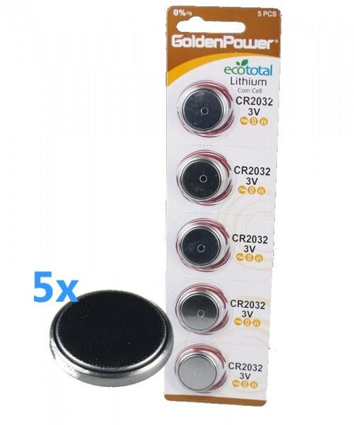 5x Lithium Knopfzelle CR2032 3V Blister
