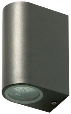 ChiliTec LED-Wandleuchte CTW-2-V2 anthrazit 2x GU10 IP44 für Innen & Außen