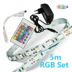 RGB LED Strip Komplettset 5m - 150 SMDs / 5050