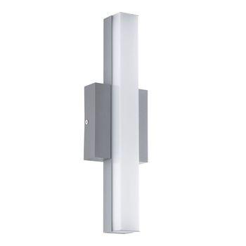 Eglo Acate LED Außenwandleuchte 8W Alu Stahl silber