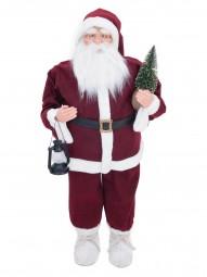 EUROPALMS Weihnachtsmann mit Bäumchen, 120cm