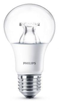 Philips E27 LED Lampe WarmGlow 8.5W 806lm warmweiß dimmbar klar