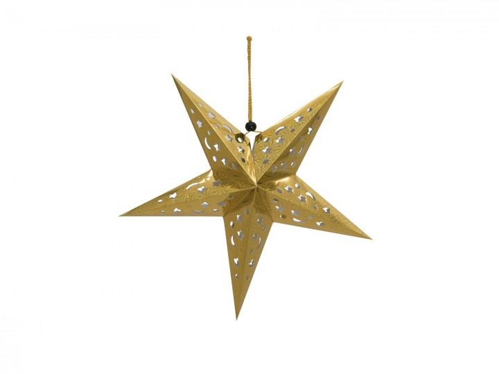 europalms stern laterne papier gold 50 cm weihnachten deko partyeffekte. Black Bedroom Furniture Sets. Home Design Ideas