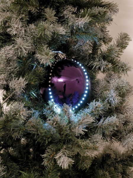 EUROPALMS LED Snowball 8cm, lila 5x