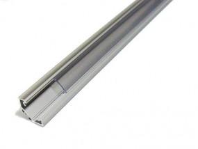 45° Eckprofil 1m Montage Alu Profil mit Abdeckung für LED Strips
