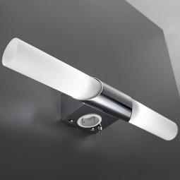 LED Spiegelleuchte E14 10W mit Steckdose