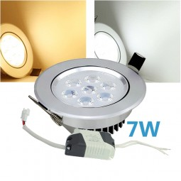 LED Einbaustrahler dimmbar 7W inkl. Trafo 230V Chrom Spot