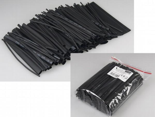 100-teiliges Schrumpfschlauch-Sortiment schwarz