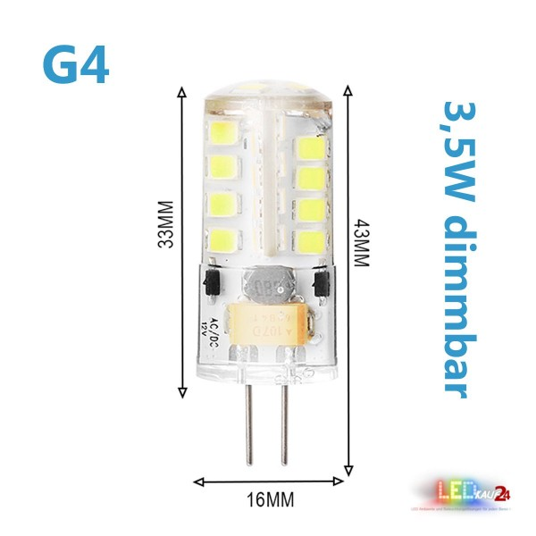 led g4 dimmbar 3 5w 12v ac dc leuchtmittel warmwei spot. Black Bedroom Furniture Sets. Home Design Ideas