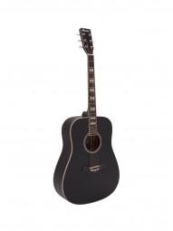 DIMAVERY STW-40 Westerngitarre, schwarz