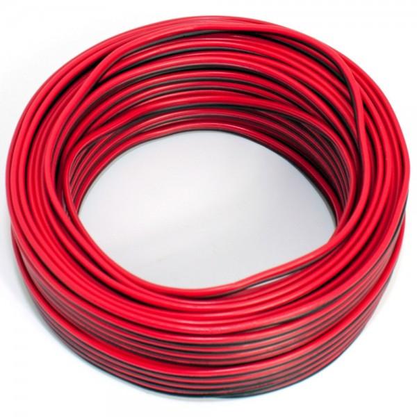 25m Lautsprecherkabel 2x 0,50mm rot schwarz