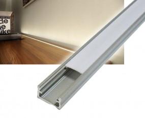1m Standard Montage Alu Profil mit Abdeckung für LED Strips