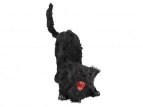 EUROPALMS Halloween Katze mit Sound+LED+Bewegung