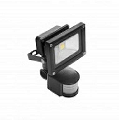 LED Fluter mit Bewegungsmelder 230V 10W warmweiß High Power Strahler IP65