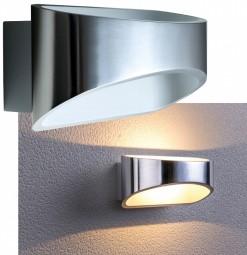 LED Wandleuchte Hugo 5W COB poliertes Aluminium