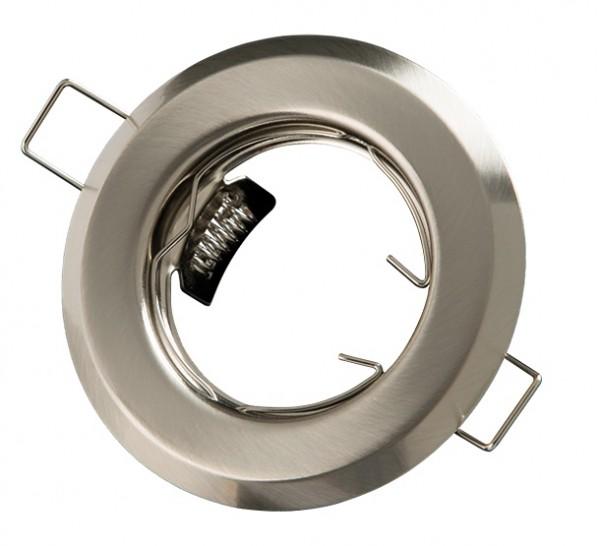 Einbaurahmen rund Edelstahl gebürstet starr 55mm
