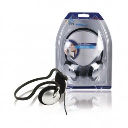 HQ Nackenbügel Kopfhörer 3,5mm schwarz silber