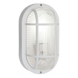 Eglo Anola Außenwandleuchte E27 Oval Kunststoff weiß