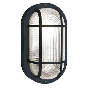 Eglo Anola Außenwandleuchte E27 Oval Kunststoff schwarz