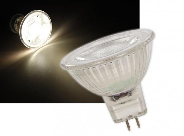 Glas GU5,3 LED 3W COB Leuchtmittel warmweiß