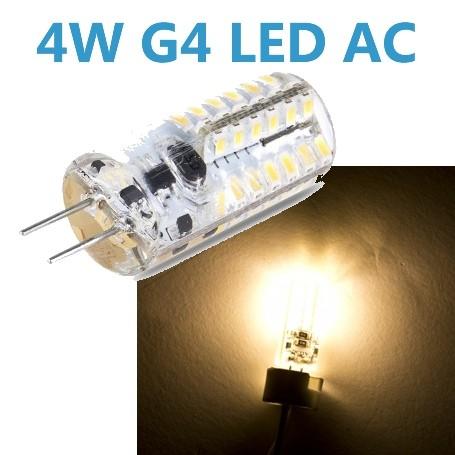 LED G4 4W 12V AC/DC Leuchtmittel warmweiß (Spot, Strahler, Halogen)